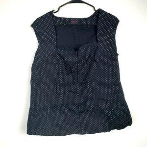 Torrid Polka Dot black white top crochet size 2